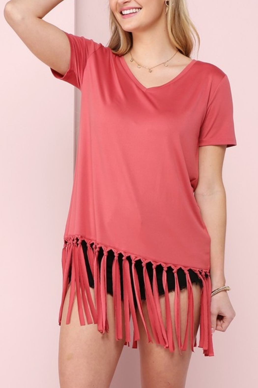 Ninexis Fun in Fringe top - Front Cropped Image