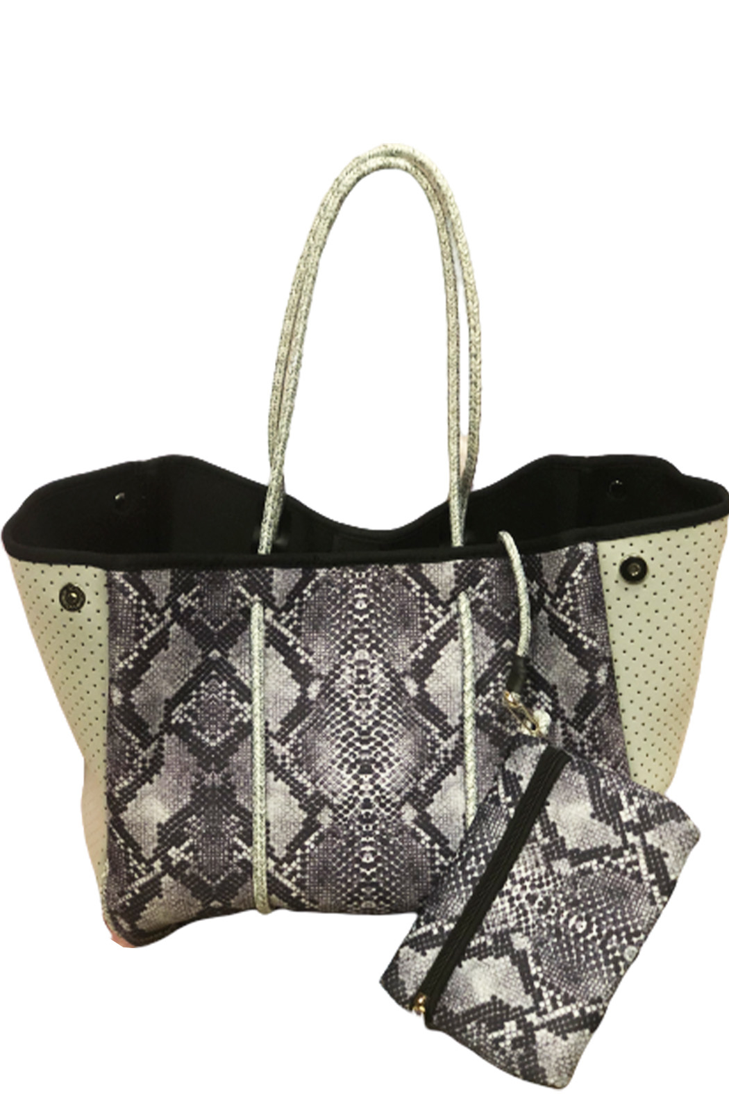 gift girl  Fun Neoprene totes - Front Cropped Image