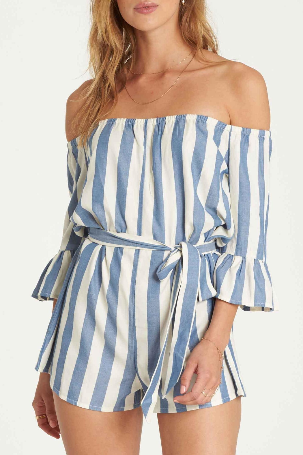 Billabong Fun Now Romper - Front Cropped Image