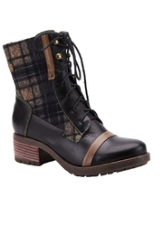 Spring Footwear Fun Plaid Boots - Front cropped