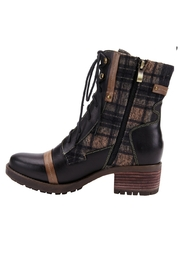 Spring Footwear Fun Plaid Boots - Front full body