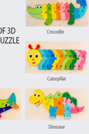 Freeship Wholesale - Faire Fun Playing Caterpillar Puzzle - Product Mini Image