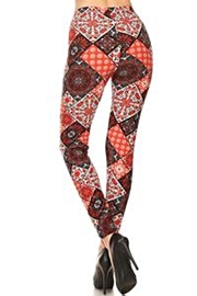 Love It Fun Print Leggings - Side cropped