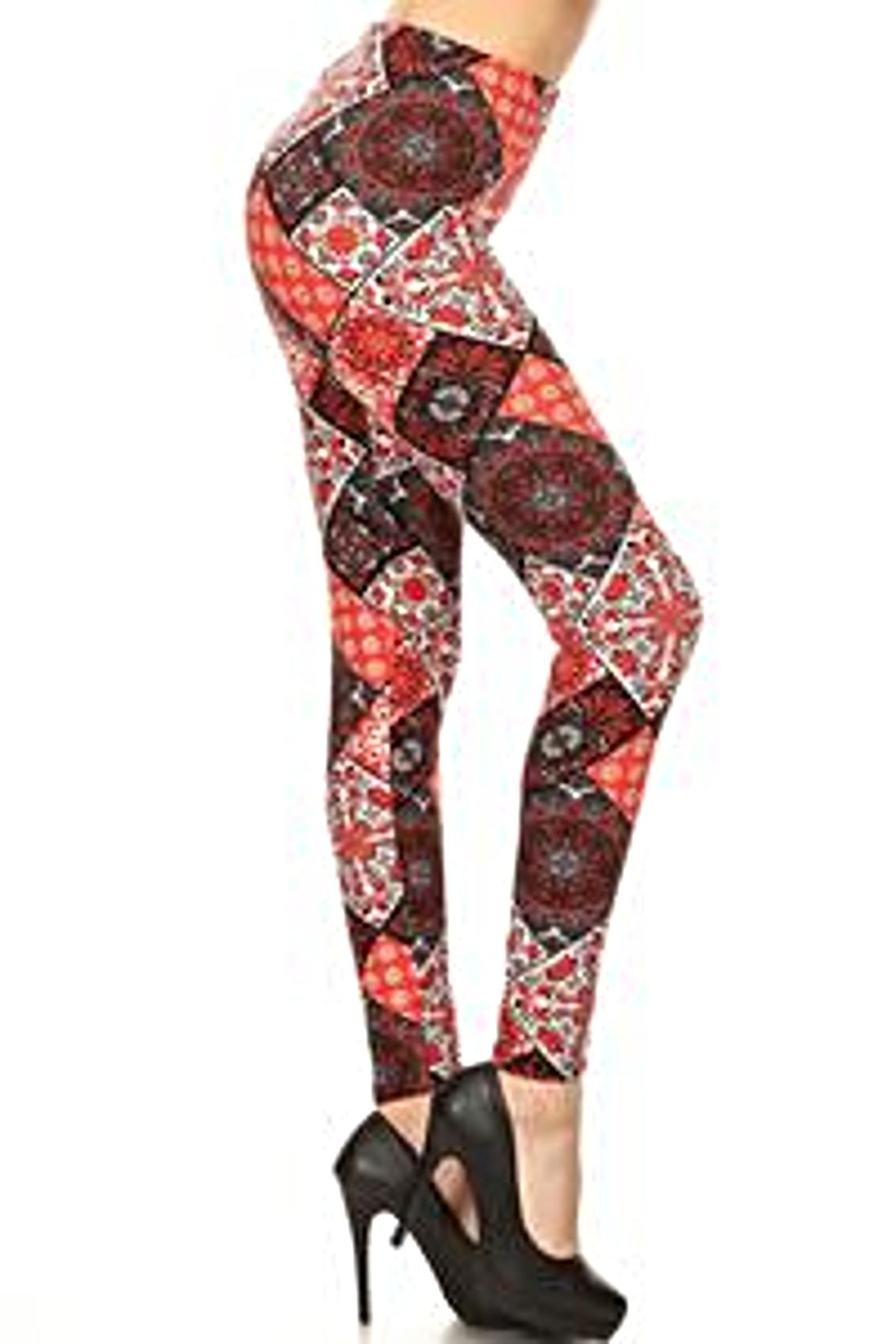 Love It Fun Print Leggings - Front Cropped Image