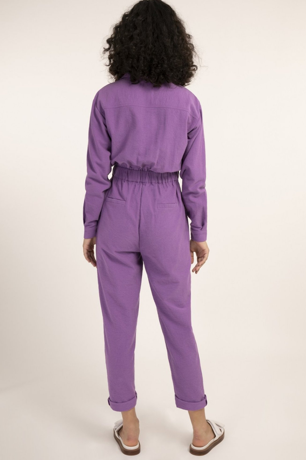 FRNCH Fun Violet Jumpsuit - Front Full Image