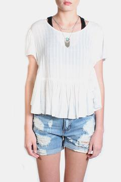 Shoptiques Product: Cotton Ruffle Hem Top