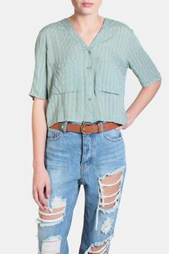 fun 2 fun Cropped Two Pocket Blouse - Product List Image