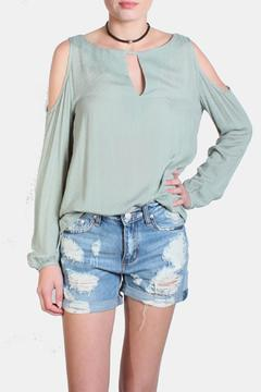 Shoptiques Product: Gauze Cold Shoulder Blouse