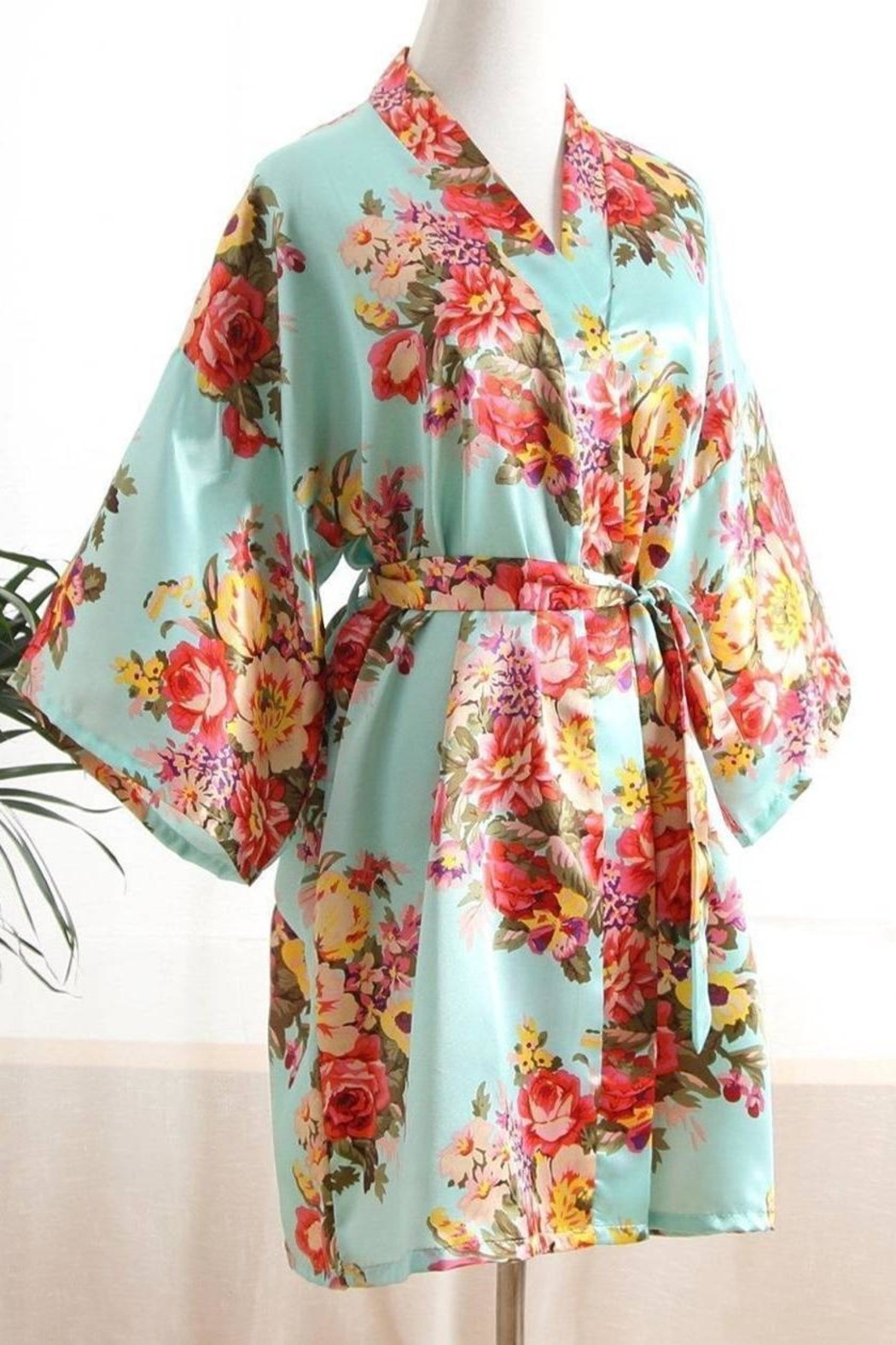 Fun Stuff Colorful Cotton Robe - Front Cropped Image