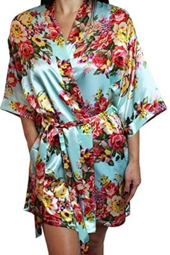 Shoptiques Product: Colorful Silky Robe