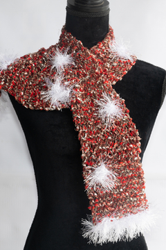 Handmade by CA artist Funfetti & Fur Holiday Scarf - Product List Image
