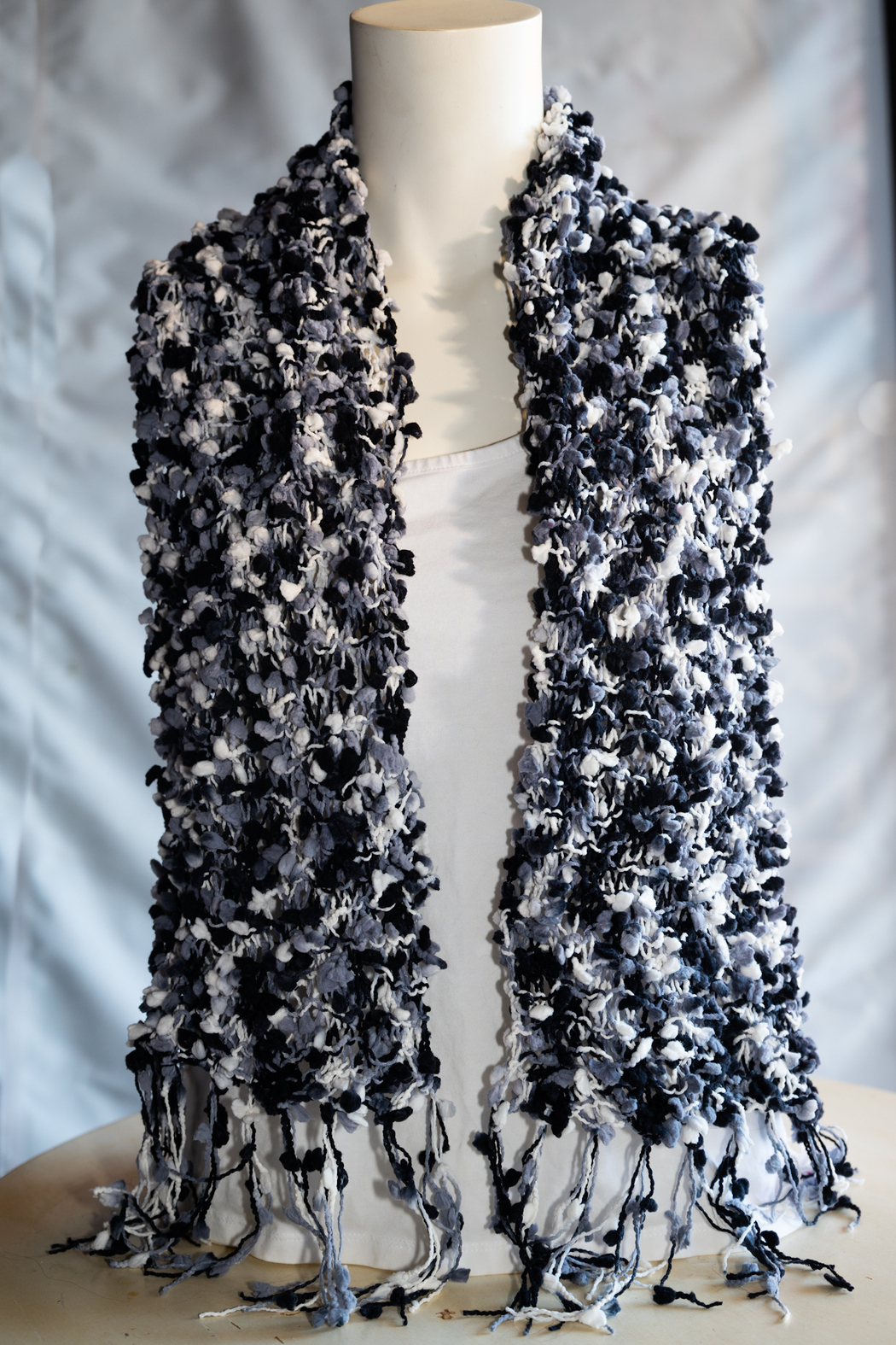 Handmade by CA artist Chunky Knit Scarf - Back Cropped Image