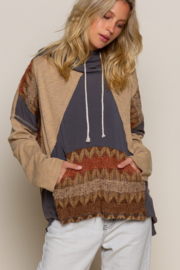 Pol Clothing Funky Patch Hoodie - Front cropped