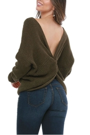 Funky Twist Back Sweater - Front cropped