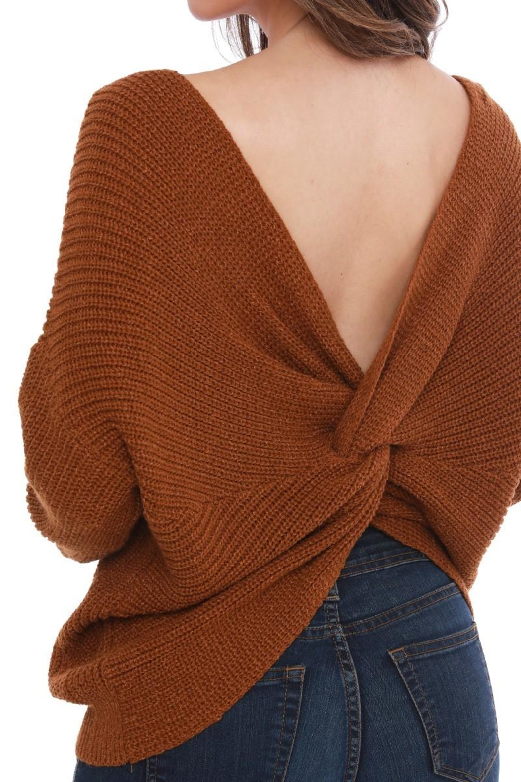Funky Twist Back Sweater - Side Cropped Image