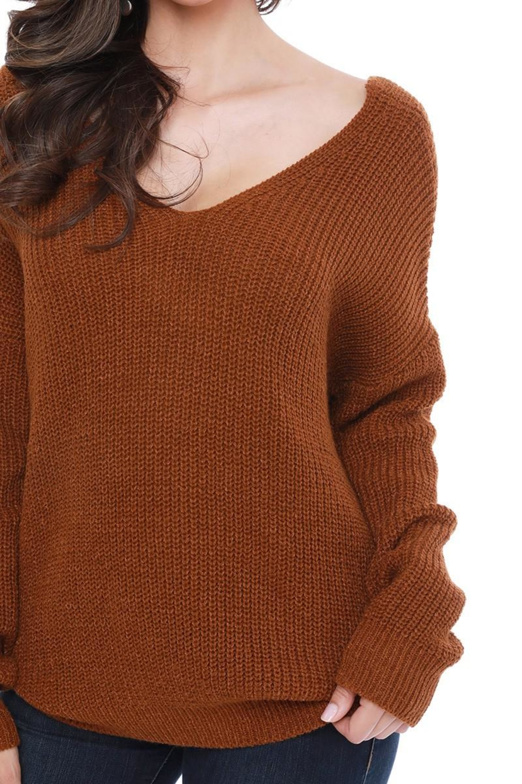 Funky Twist Back Sweater - Front Full Image