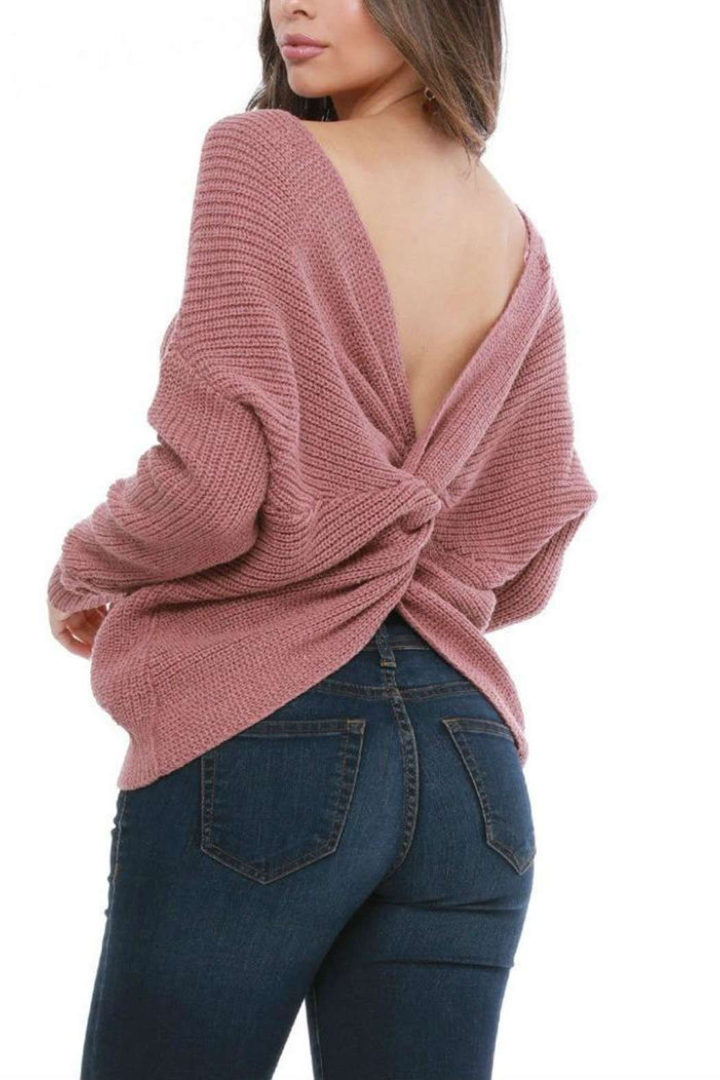 Funky Twist Back Sweater - Front Cropped Image