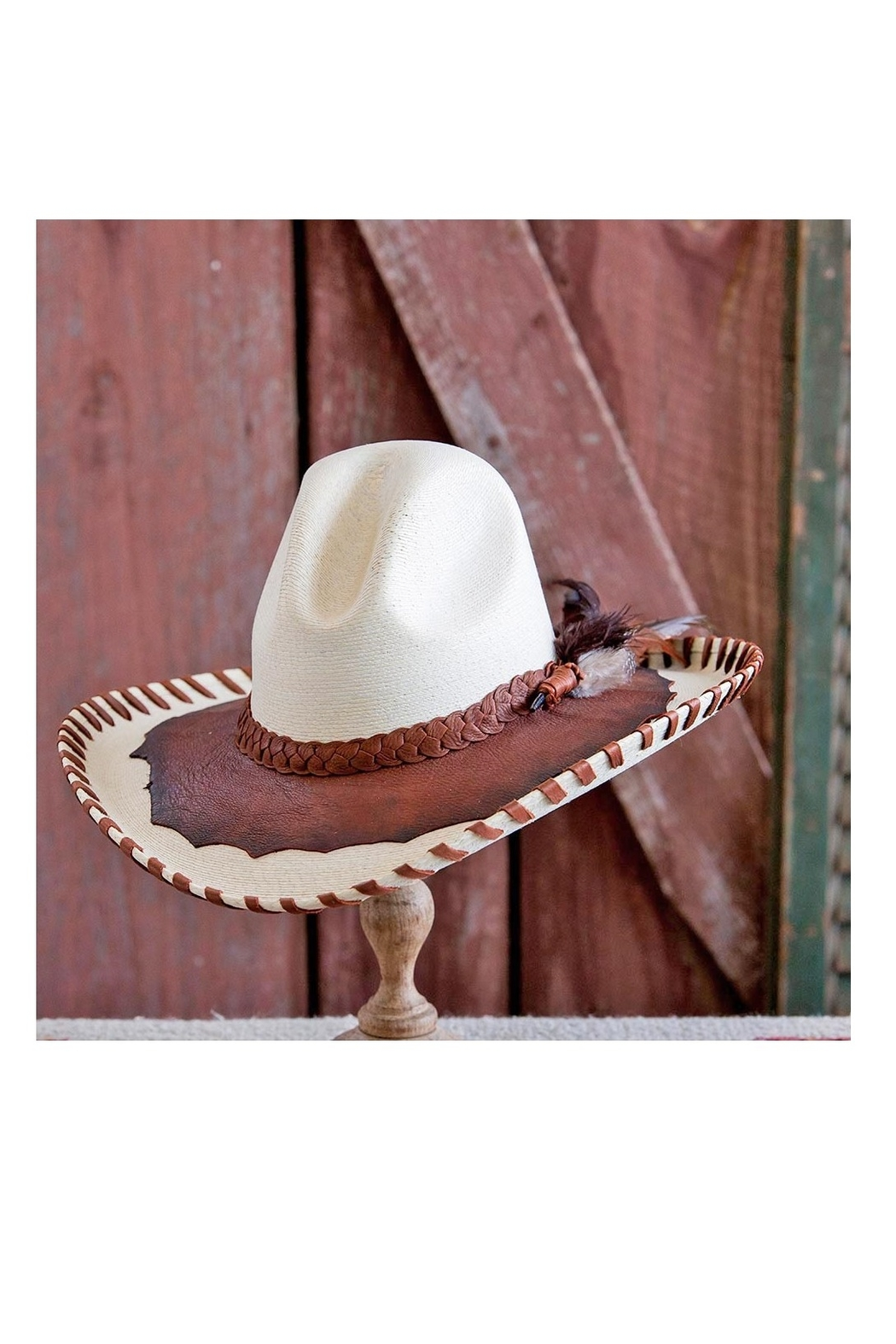 Patricia Wolf Designs Funky Western Hat - Front Cropped Image
