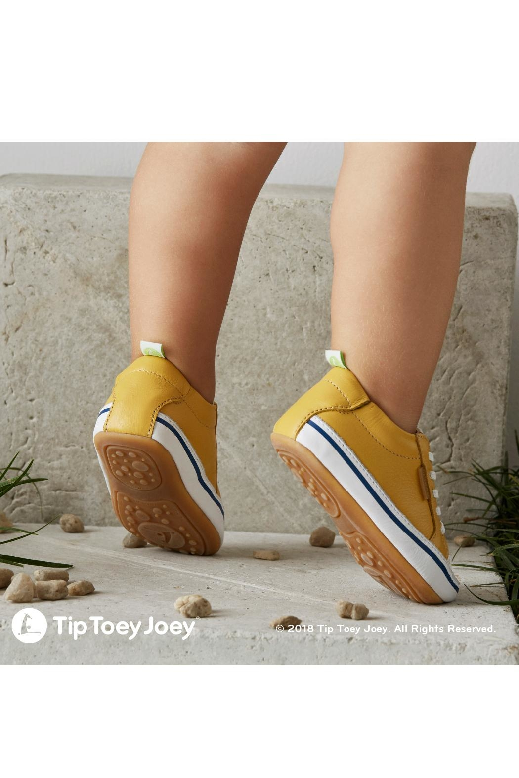 Tip Toey Joey Funky Yellow Sneakers - Front Full Image