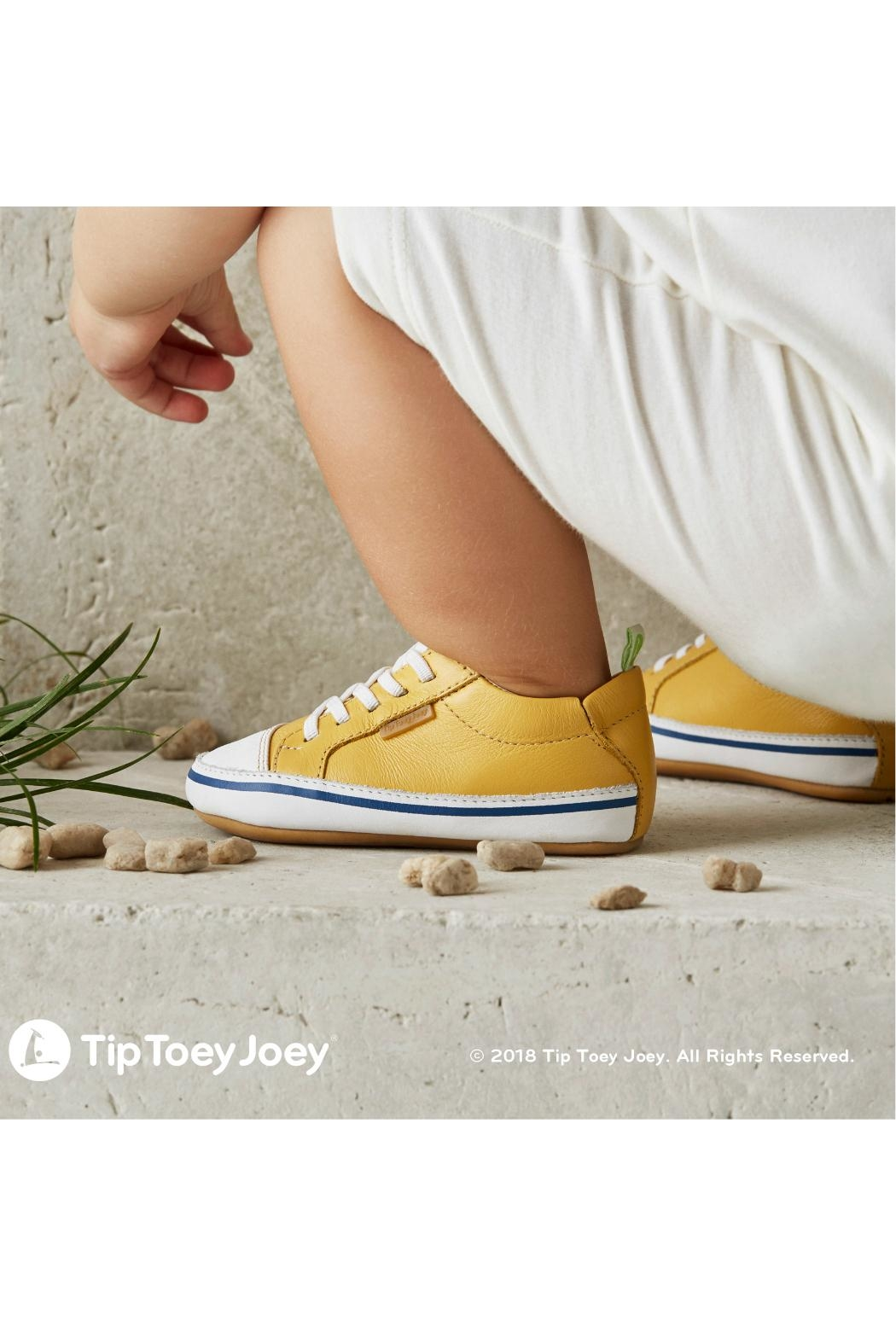 Tip Toey Joey Funky Yellow Sneakers - Side Cropped Image