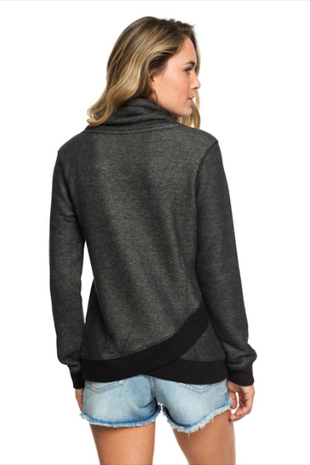 Roxy Funnel Neck Hoodie - Side Cropped Image
