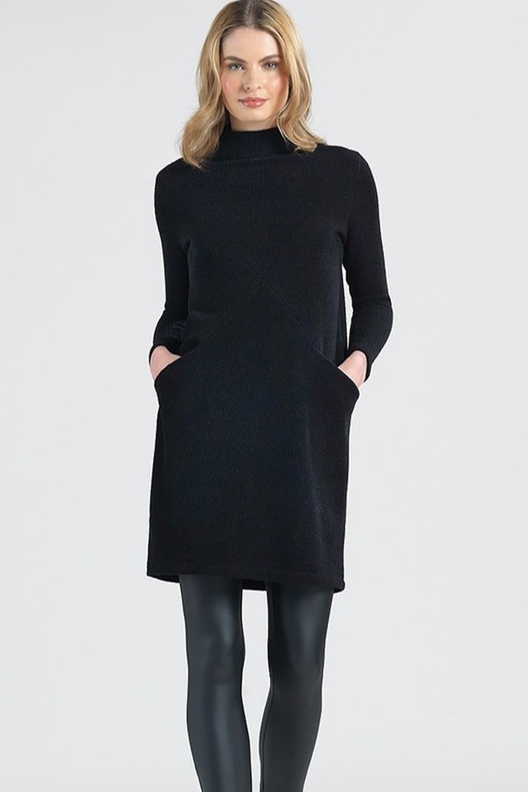 Clara Sunwoo Funnel Neck Knit Dress - Main Image