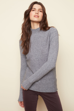Charlie B Funnel Neck Sweater - Product List Image