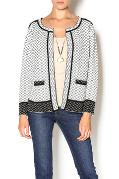Shoptiques Product: Black White Reversible Cardigan