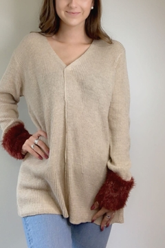 LoveRiche Fur Accent Sweater - Product List Image