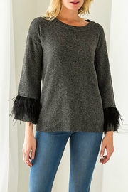 Mystree Fur Belle Slv Pullover Sweater - Product Mini Image