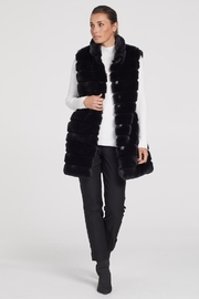 Tribal  Fur Coat With Removable Sleeves - Product Mini Image