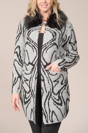 Rain FUR COLLAR CARDIGAN - Product Mini Image