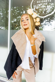 On Twelfth Fur Collar Cardigan - Front cropped