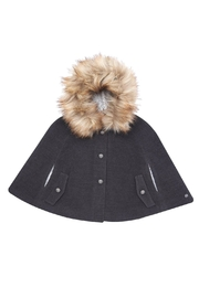Paz Rodriguez Fur Hooded Cape. - Front cropped
