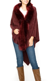 Kimberly C. Fur Lapel Shawl-Poncho - Product Mini Image