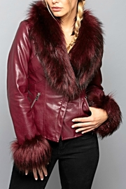 LA Coalition Fur Leather Jacket - Product Mini Image