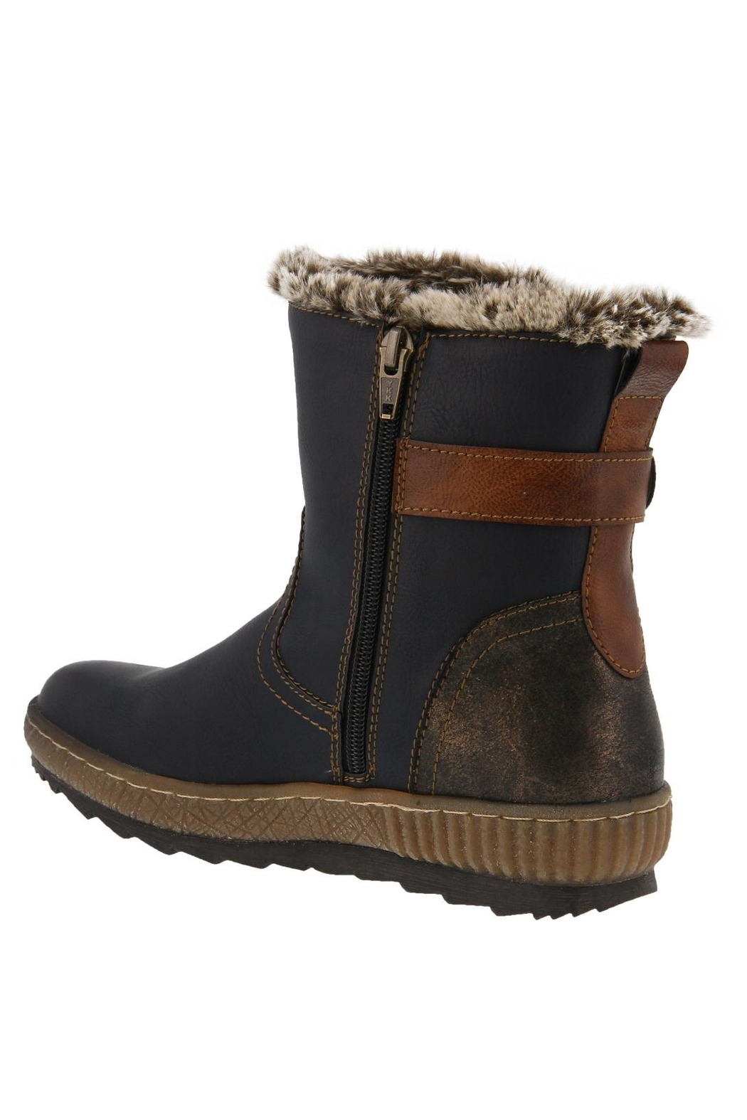 Spring Footwear Fur-Lined Winter Bootie - Front Full Image