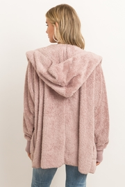 Hem & Thread Fur Open Jacket - Front full body