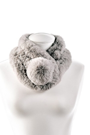 Gift Craft Fur pom scarf - Front cropped