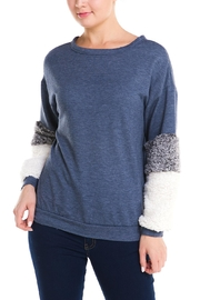 Signature 8 Fur Sleeve Sweater - Front cropped