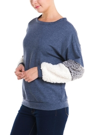 Signature 8 Fur Sleeve Sweater - Front full body