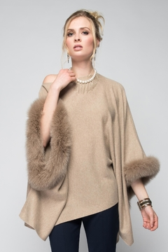 Shoptiques Product: Fur Trim Poncho