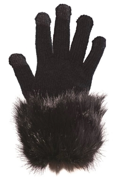 Fabulous Furs Faux Fur Trimmed Tech Gloves - Product List Image