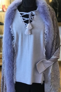 Shoptiques Product: Fur-Trim Wrap