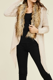 Staccato Fur Trimmed Cardigan - Product Mini Image