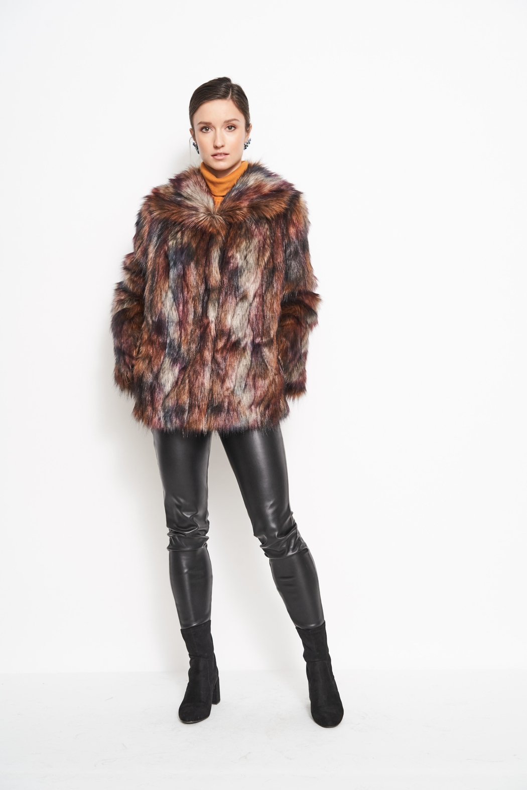 FURious Fur Peacock Fauxfur Jacket - Front Cropped Image