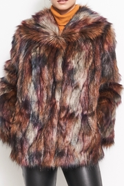 FURious Fur Peacock Fauxfur Jacket - Side cropped