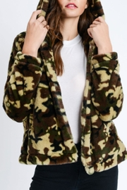 Love Tree Furry Camo Jacket - Front cropped