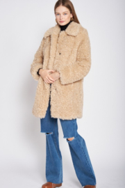 Emory Park Furry Coat with Lapel Collar - Other
