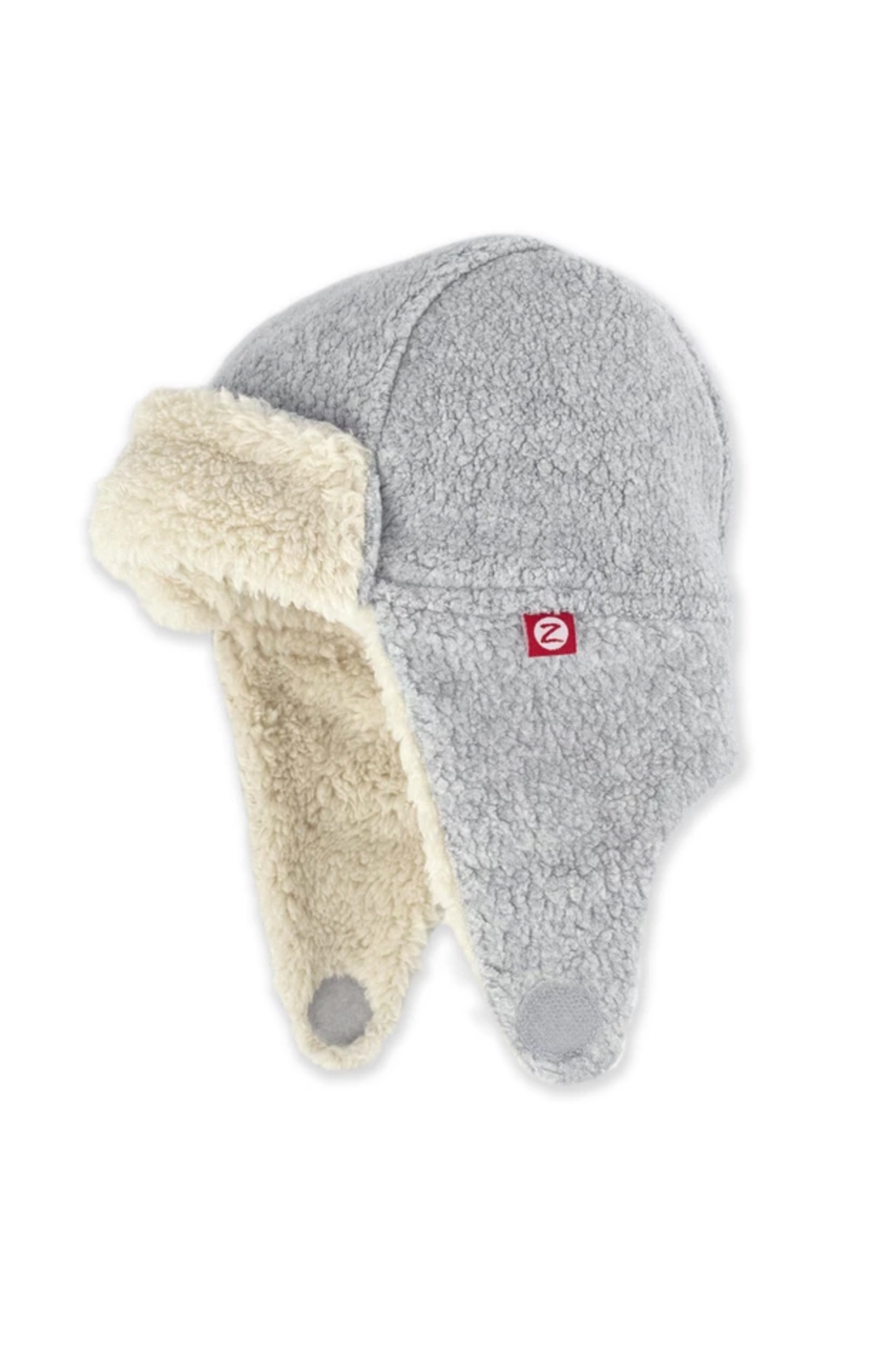 Zutano Furry Fleece Trapper Hat - Front Cropped Image